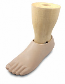 single axis foot with shaped ankle part